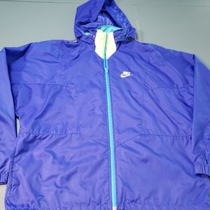 Women's NIKE parks, blue, hood, Medium
